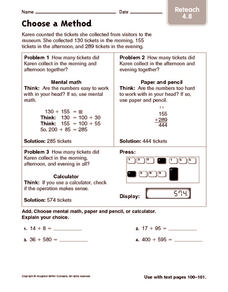 Choose a Method: Reteach Worksheet