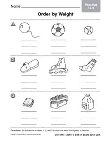 Order by Weight: Practice Worksheet