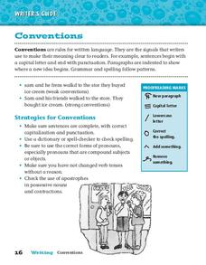 Conventions Worksheet