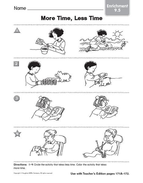 More Less Kindergarten Worksheet Time. More. Best Free Printable ...
