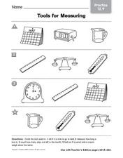 tools for measuring worksheet for kindergarten lesson planet. Black Bedroom Furniture Sets. Home Design Ideas