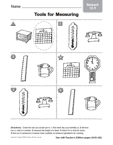 tools for measuring reteach worksheet for 3rd 4th grade lesson planet. Black Bedroom Furniture Sets. Home Design Ideas