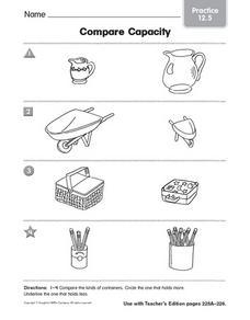 compare capacity practice 12 5 worksheet for pre k kindergarten lesson planet. Black Bedroom Furniture Sets. Home Design Ideas