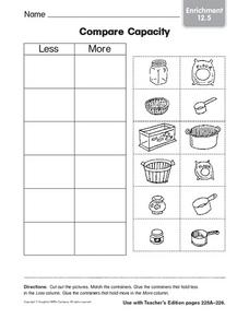 Compare Capacity Enrichment 12.5 Worksheet