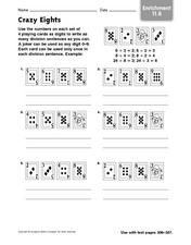 Crazy Eights Worksheet