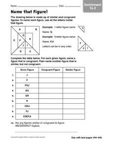 Name that Figure Worksheet