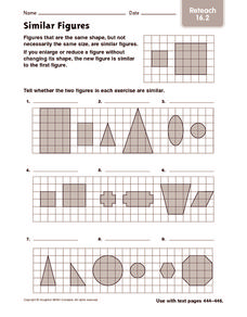 Similar Figures: Reteach Worksheet