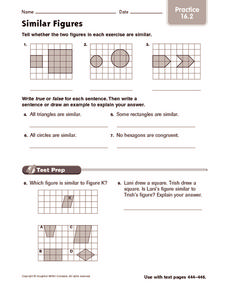 Similar Figures: Practice Worksheet