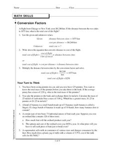 Conversion Factors Worksheet
