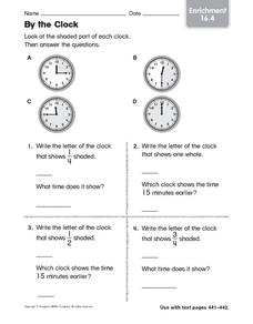 By the Clock: Enrichment Worksheet