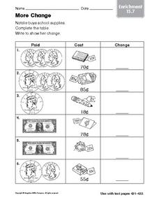 More Change: Enrichment Worksheet