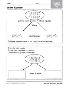 Share Equally ELL 19.5 Worksheet