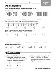 Mixed Numbers Practice Worksheet