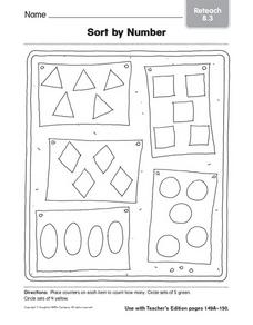 Sort By Number: 4 and 5 Worksheet