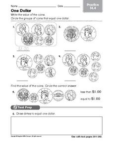 One Dollar: Practice Worksheet