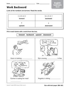 Work Backward: English Learners Worksheet