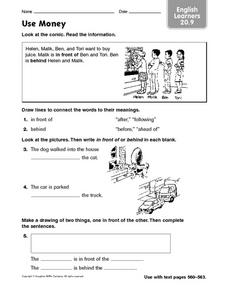 Use Money ELL 2.9 Worksheet