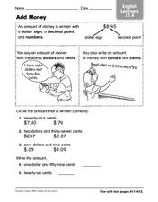 Add Money - ESL Worksheet