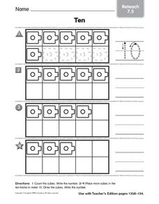 The Number 10: Reteach Worksheet