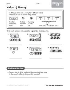 Value of Money; Homework 3.1 Worksheet