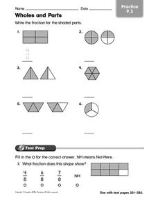 Wholes and Parts: Fraction Practice Worksheet