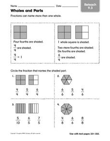 Wholes and Parts: Reteach Worksheet