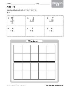 Add 10: Homework Worksheet