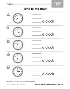 Time to the Hour: Practice Worksheet