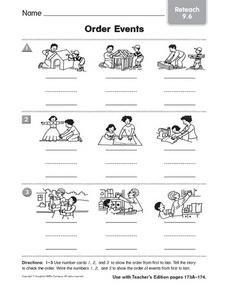 Order Events: Reteach Worksheet