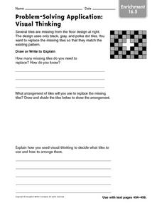 Problem-Solving Application: Visual Thinking: Enrichment Worksheet