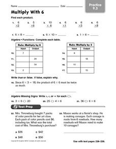 Multiply With 6: Practice Worksheet