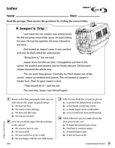 Making Inferences-Reading Comprehension Worksheet