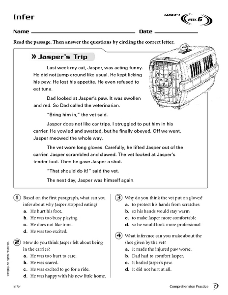 Making Inferences-Reading Comprehension Worksheet For 3rd - 4th Grade  Lesson Planet