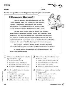Infer: Chocolate Chicken? Worksheet