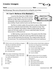 Create Images: I Can't Believe It's Butter Worksheet