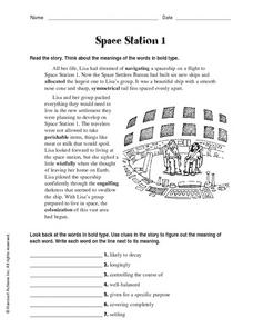 Space Station 1 Worksheet