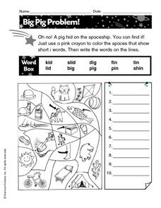 Big Pig Problem! Worksheet