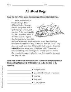 All About Dogs Worksheet
