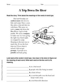 A Trip Down the River Worksheet