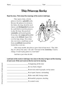 This Princess Rocks Worksheet