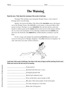The Warning Worksheet