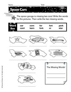 Space Cars Worksheet