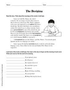 The Decision Worksheet