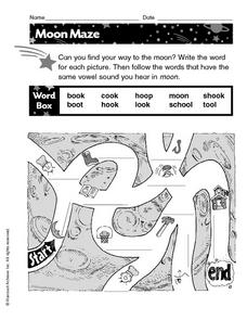 Moon Maze Worksheet