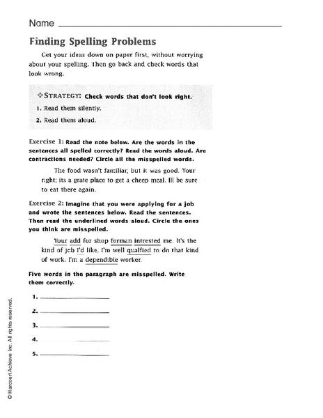 spelling errors lesson plans worksheets lesson planet. Black Bedroom Furniture Sets. Home Design Ideas