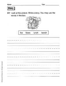 Story Writing Prompt Worksheet