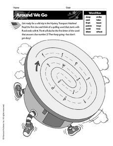 Around We Go - Spelling Puzzle Worksheet