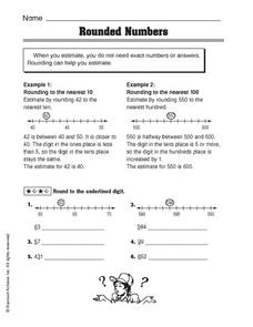 Rounded Numbers Worksheet