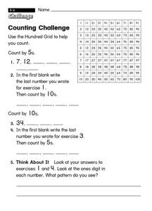 Counting Challenge Worksheet