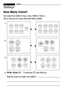 How Many Coins? Worksheet